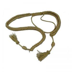 Cordones hilos de oro adulto con borlas